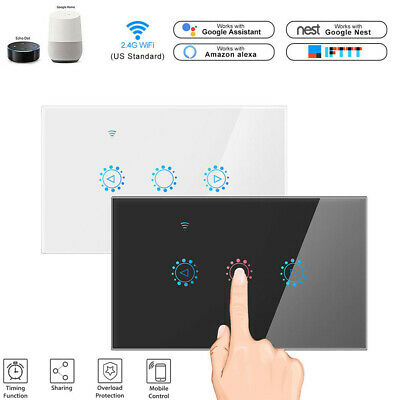 AU29.99 • Buy DIERYA Smart WIFI Light Dimmer Switch Remote For Google Alexa Voice Control Life