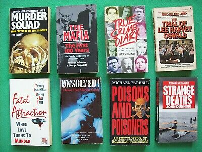 8 X CRIME P/B Books. Fatal Attraction-Unsolved!-Poisons & Poisoners-The Mafia • 24.95£