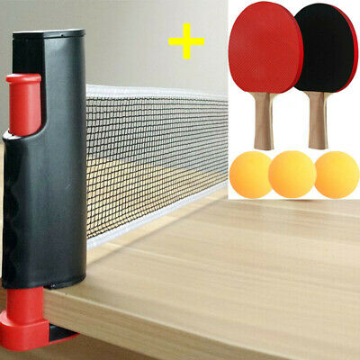Instant Table Tennis Game Indoor Portable Travel Ping Pong Ball Set Extendable • 9.99£