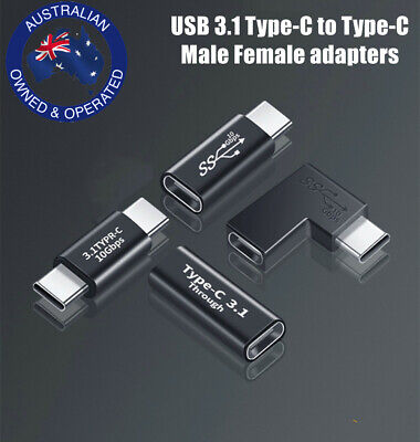 AU4.95 • Buy USB-C 3.1 Type C Male Female Extension Joiner Adapter Converter Fast Data AU OZ