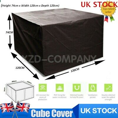 Heavy Duty Garden Patio Furniture Table Cover For Rattan Cube Set Outdoor UK STO • 11.59£