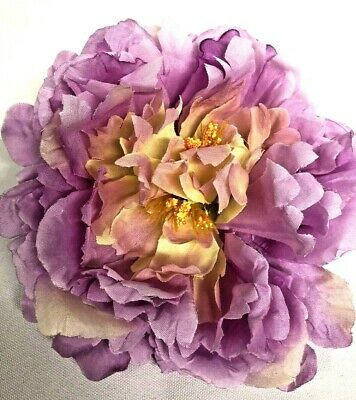 4x Artificial Lilac Peony Flower Heads Bouquet Wedding Party Table Decor • 3.99£
