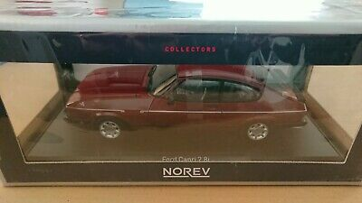NOREV 1/18 Scale Ford Capri MkIII 2.8i LHD 1982 Red NEW • 115£