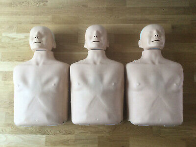3 X. Laerdal Little Anne, First Aid CPR Training Manikin  With Carry Bags USED • 150£