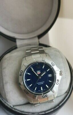 TAG HEUER AQUARACER WAF1113 Blue Dial Men Watch With PAPERS & BOX  • 650£