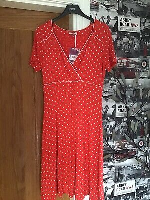 Joe Brown's Red Polka Dot Dress Size 12 Brand New With Tags • 4.99£