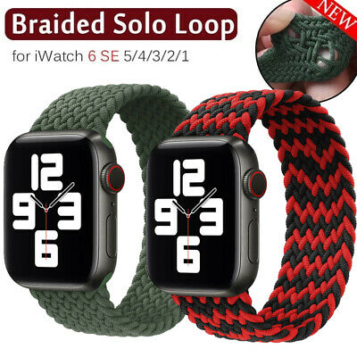$ CDN6.04 • Buy Braided Solo Loop Nylon Band Strap For Apple Watch Series SE 6 5 4 3 2 40mm/44mm