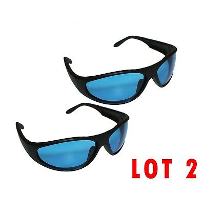 LOTS 2 Indoor Hydroponics Grow Room Light Glasses Goggles Anti UV For HPS MH • 14.84£