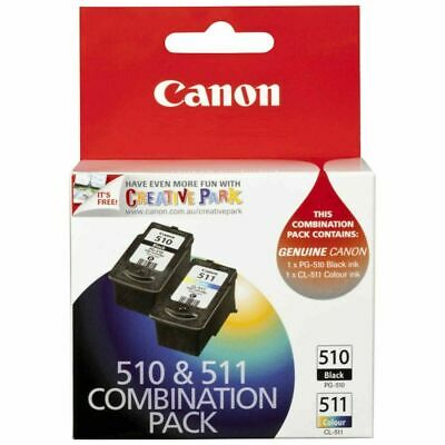 AU44.50 • Buy Canon Printer Ink 510 & 511 Combination Pack - 2 Cartridges (GENUINE)