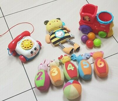 Baby Toddler Toy Bundle Play Skool Roll N Pop Train, Fisher Price Phone And More • 8£