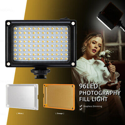 96 LED Video Light Lamp Lighting Hot Shoe For Canon Nikon DSLR Camera Camcorder • 11.79£