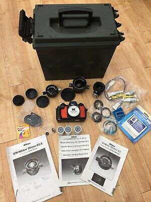 Nikonos-V Underwater Camera, 2x Lens, Viewfinder + Many Accessories • 370£