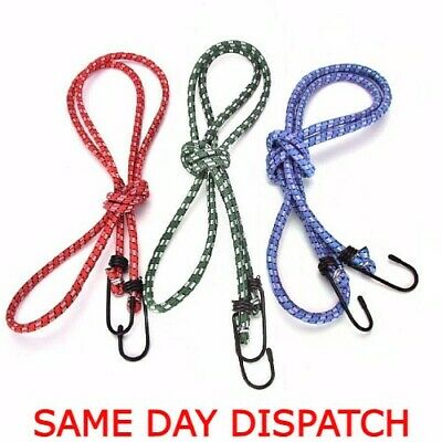 £3.99 • Buy 3pcs 90cm Elastic Straps Pack Bungee Cords With Hook Cables Bungie Elastic