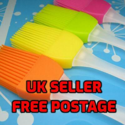 £1.99 • Buy Baking BBQ Basting Brush Bakeware Pastry Bread Oil Cream Cooking Silicone Brush