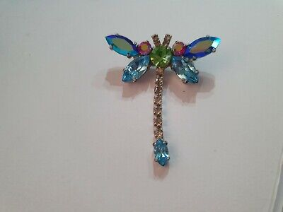 £40 • Buy Genuine Butler & Wilson Sparkling Dragonfly Brooch With Articulated Tail Old