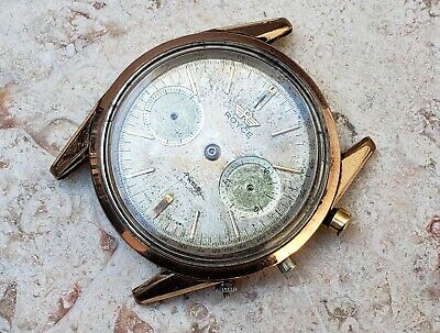 $ CDN313.84 • Buy Vintage Royce Mechanical Chronograph 37mm Mens Watch - Non Working For Parts