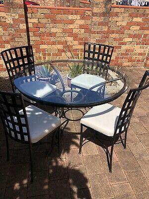 AU300 • Buy Round Glass Dining Table Set With 4 Chairs