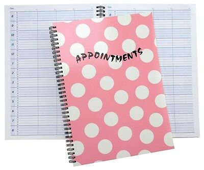 £13.99 • Buy Salon Appointment Pad Pink Spot Spiral Book Nails, Beauty, Tanning, Hairdressers