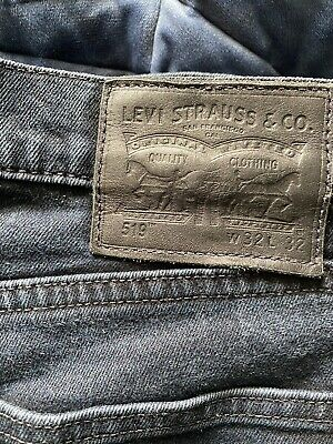 LEVI 519 SKINNY Jeans - W29 L32 - Navy - Great Condition - Men's • 9.99£