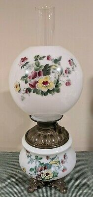 $ CDN181.41 • Buy Vintage Hand Painted Victorian GWTW Gone With The Wind Parlor Lamp Electrified