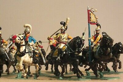 1/72 Napoleonic Era Cavalry 16 Mounted Troopers Very Well Painted Model Soldiers • 12£