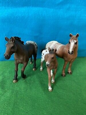SCHLEICH Horse Retired Appaloosa Set 13731 + 13732 + 13733 • 18.96£