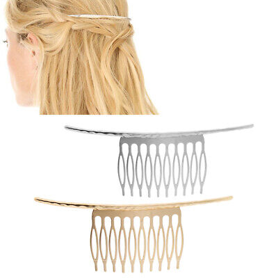 Details about  /Stylish Blank Metal Hair Clip Comb 10-Teeth DIY Wedding Bridal Hairstyle