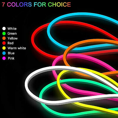 $5.99 • Buy 12V Flexible Sign Neon Lights Silicone Tube LED Strip Waterproof 1M 2M 3M 5M