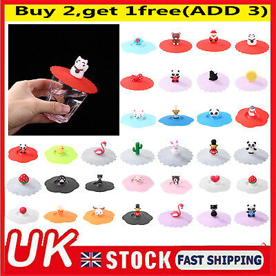 £3.88 • Buy Silicone Cup Cover Heat-resistant Leakproof Reusable Anti-Dust Suction Mug Lid