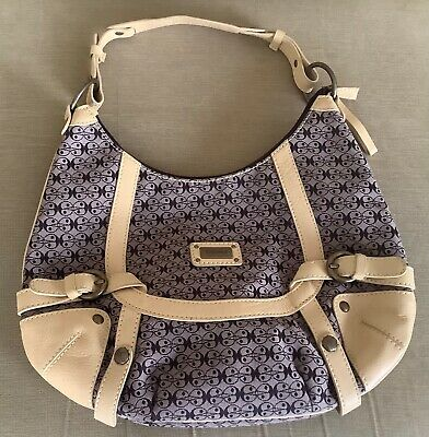 £9.99 • Buy Coccinelle Bag Vintage Style Monogram And Leather Medium Hobo