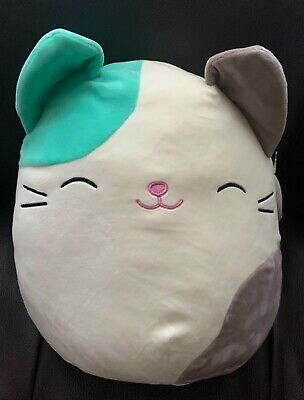 $ CDN29.99 • Buy NWT Squishmallows Plushy Super Soft And Cuddly White Green Cat NEW