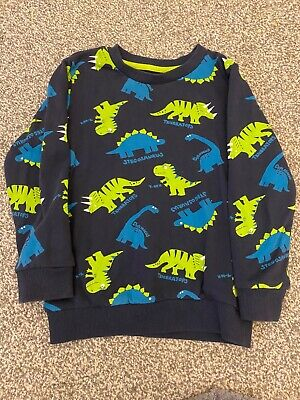 Bluezoo Boys Dinosaur Sweatshirt 4-5 Years • 1.50£