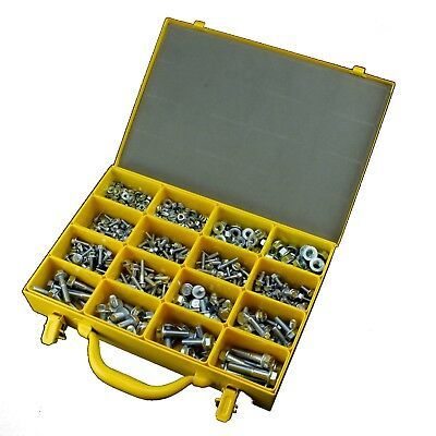 AU125 • Buy M5 M6 M8 M10 Metric Flange Serrated CL8.8 Fastener Assortment Kit Zinc - 579 Pce
