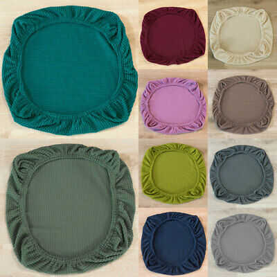 AU6.39 • Buy Universal Seat Cover Stretch Dining Chair Cover Removable Banquet Cushion Covers