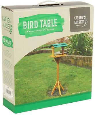 £14.99 • Buy Traditional Free Standing Garden Wooden Bird Table Feeding Station