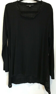 AU89 • Buy Paula Ryan Size XL (16) Black Top Made In New Zealand Designer Label
