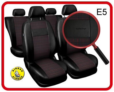£49.99 • Buy Car Seat Covers Fit BMW X1 - Full Set Black/red Leatherette/polyester