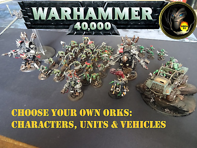 £28 • Buy Well Painted ORK MULTILIST - Warhammer 40k Figures, Vehicles & Units - GW  A23