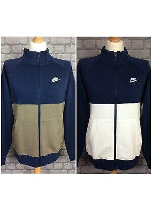 £29.50 • Buy Nike Mens Full Zip Chariot Fleece Navy White Or Stone Track Top *sold Separately