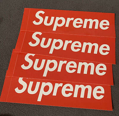 $ CDN7 • Buy 4 Supreme Sticker Box Logo - Red Large Logo 19.1cm X 5.7cm