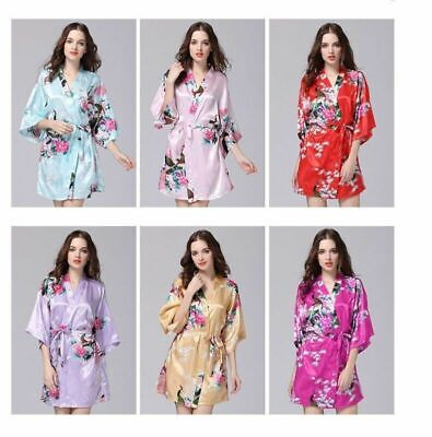 £3.99 • Buy Hot! Women Robe Bridesmaid Set Gowns And Bride Wedding Party Robes Dressing Gown