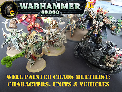 £24 • Buy Well Painted CHAOS MULTILIST - Warhammer 40k Figures & Units - GW  CR7