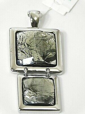 $ CDN13.80 • Buy Beautiful Lia Sophia  FLUX  Pendant/Slide, Silver/Grey Toned, Unique, NWT