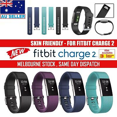 AU8 • Buy For Fitbit Charge 2 Replacement Silicone Rubber Band Strap Wristband Bracelet