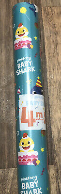 £4.99 • Buy BABY SHARK WRAPPING PAPER   1 X 4 Metre Roll GIFT WRAP Pinkfong