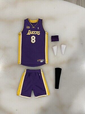 $120 • Buy NEW 1/6 Kobe Bryant 2001 FINALS #8 Jersey For Enterbay