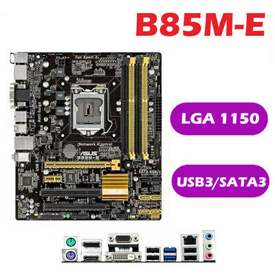 AU63.48 • Buy B85M-E DDR3 Desktop Motherboard MATX Socket FCLGA1150 Up To Core I7 For ASUS