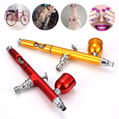 $14.54 • Buy Dual Action Gravity 0.3mm Feed Spray Airbrush Gun Nail Art Paint Tattoo Tool US