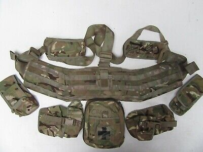 £59.95 • Buy British Army,  MTP Virtus 'Chassis' [padded Belt Order] + 8 Pouches. Grade 1.