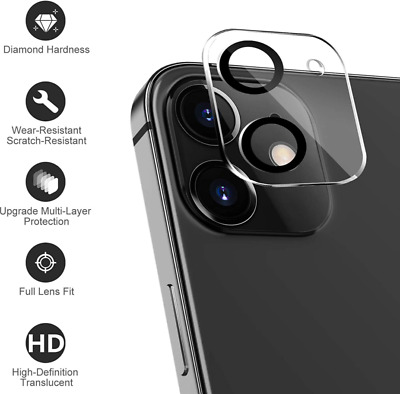 £1.99 • Buy 9H Camera Lens For IPhone 11 12 Pro Max Mini Case Protector Tempered Glass Cover